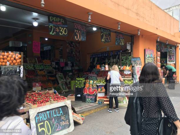 Groceries store in the street, Buenos Aires, Argentina