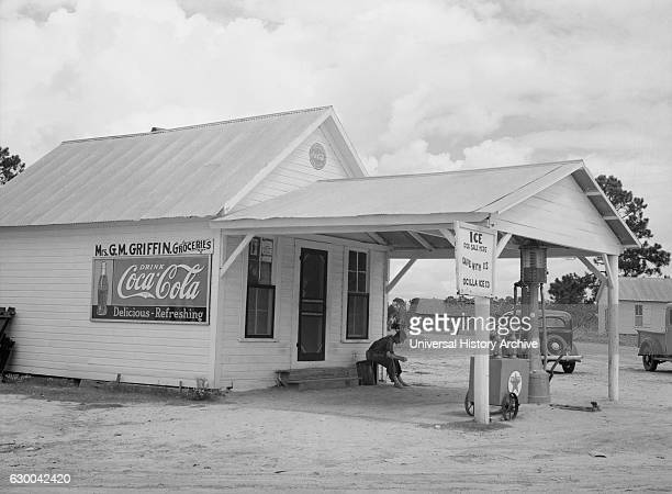 Grocery and Filling Station Irwinville Farms Georgia USA Arthur Rothstein for Farm Security Administration August 1935