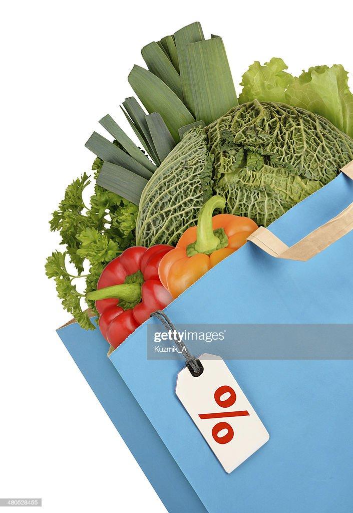 Grocery bag : Stock Photo