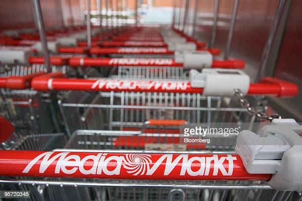 Grocery carts are seen at a Metro AGowned MediaMarkt store in Duesseldorf Germany on Tuesday Jan 12 2010 Metro AG Germany's largest retailer said...