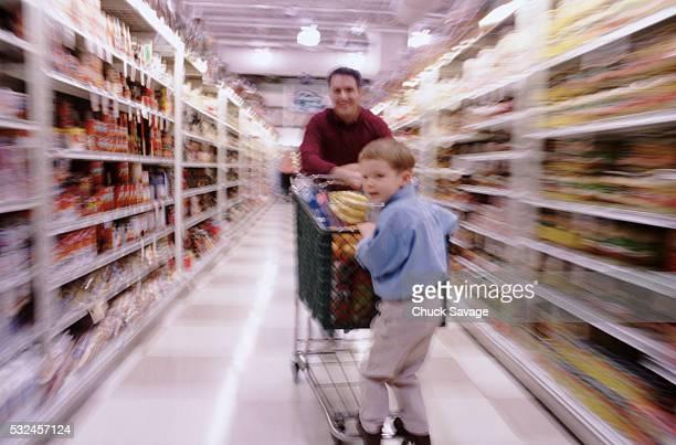Grocery shopping cart ride