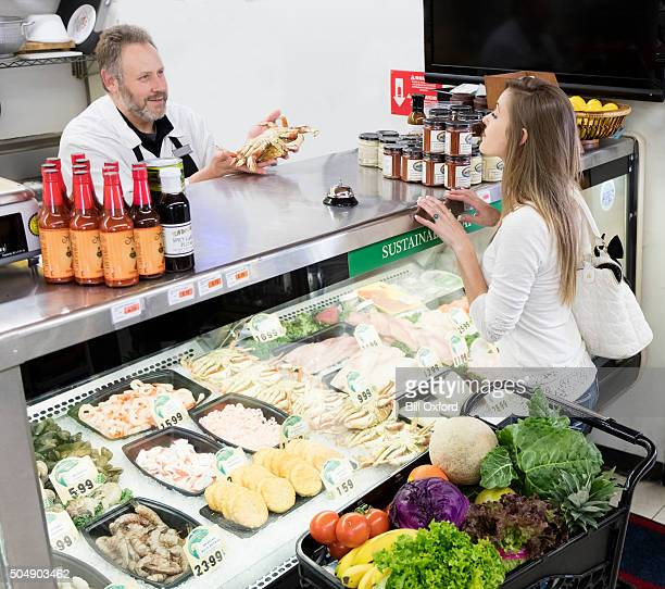 Lebensmittel-Shopping in Fleisch Dept.