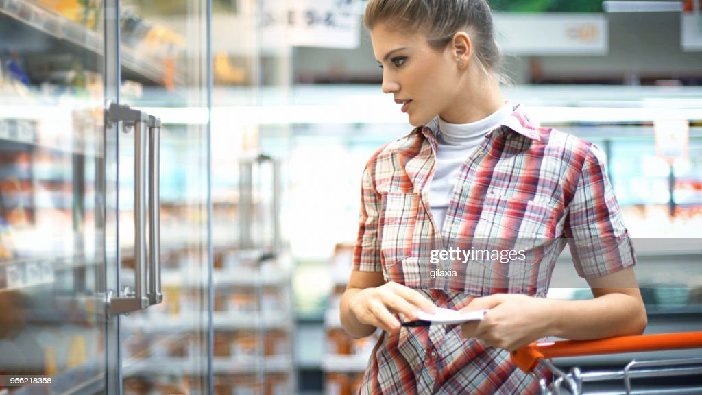 Grocery Shopping : Stock Photo