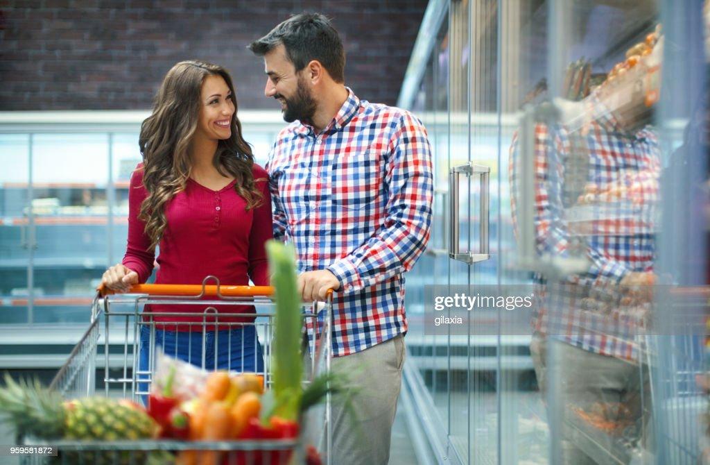 Lebensmittel-Einkaufsservice : Stock-Foto