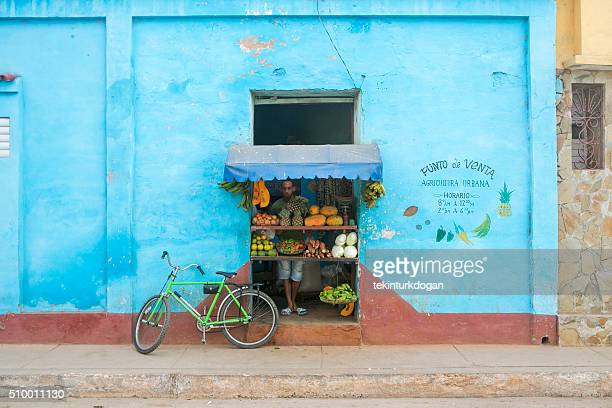 grocery store at street of trinidad cuba