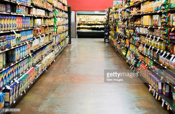 grocery store isle - island stock pictures, royalty-free photos & images