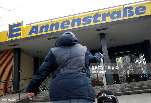 A grocery store of German chain Edeka stands on February 19 2018 in Berlin Germany According to media reports AgecoreGroup to which Edeka belongs has...