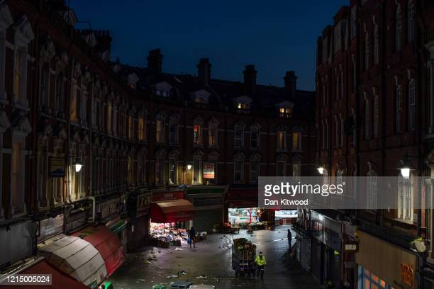 Grocery stores remain open during the lockdown in Brixton on March 26 2020 in London England British Prime Minister Boris Johnson announced strict...