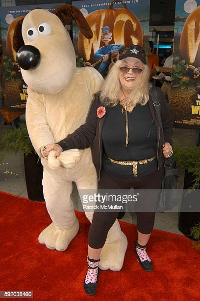 Gromit and Sylvia Miles attend The Curse of the WereRabbit Premiere at Chelsea West Theatre on September 25 2005 in New York City