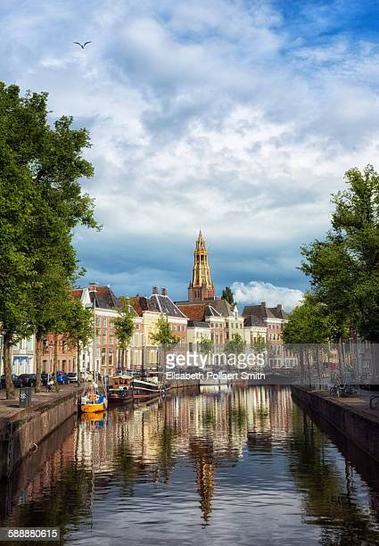 groningen city view - groningen province stock photos and pictures