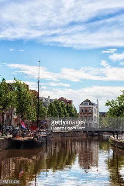 Groningen, with Dutch flag