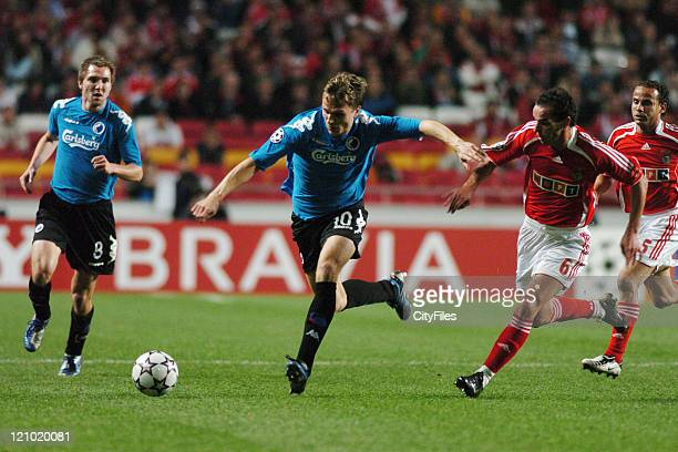 Gronkjaer of Copenhagen in during the UEFA Champions Leage Group F SL Benfica vs FC Copenhagen at Luz Stadium in Lisbon Portugal on November 21 2006