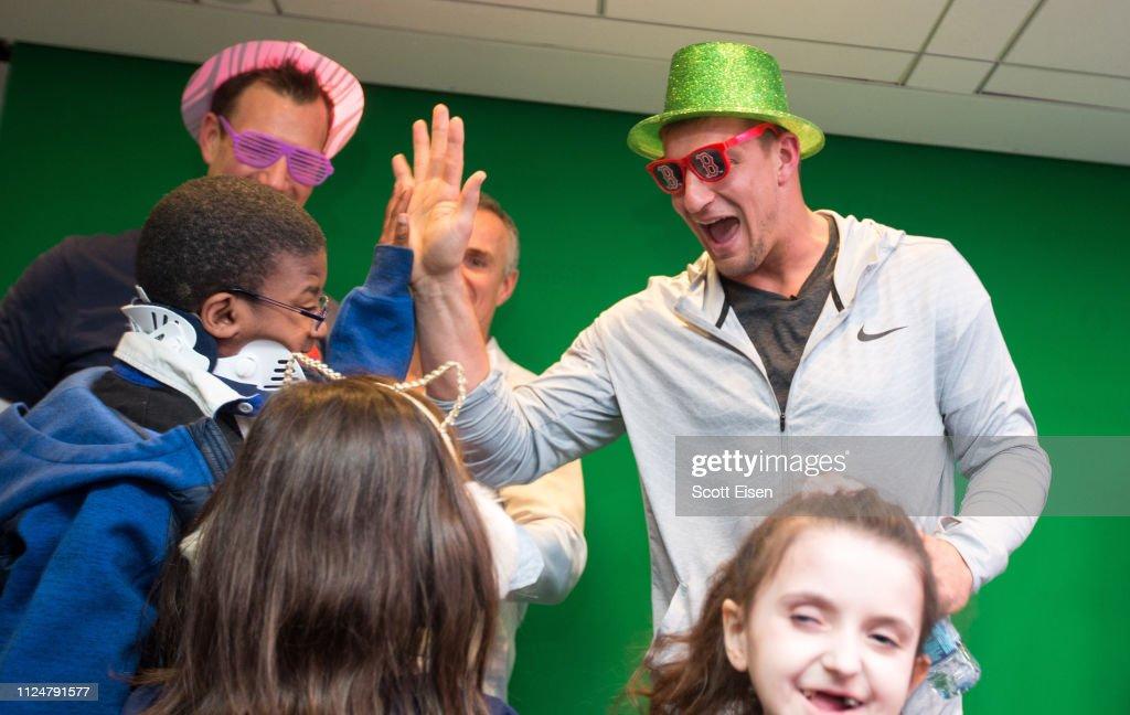 Gronkowski Family Foundation Makes Donation To Boston Children's Hospital With Matt Light And Rob Ninkovich : News Photo