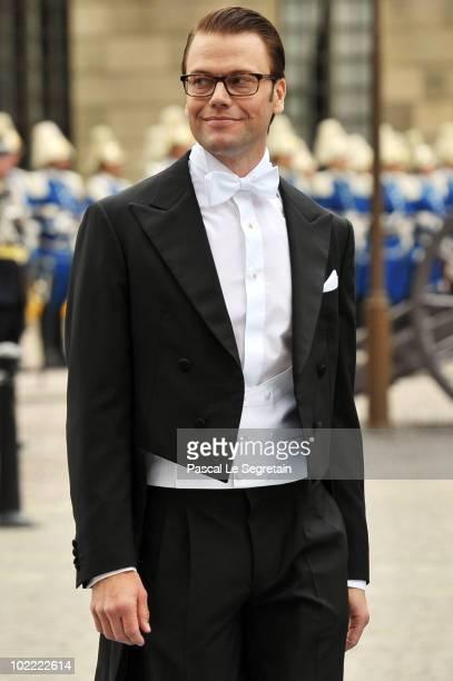 Groom Daniel Westling attends the Wedding of Crown Princess Victoria of Sweden and Daniel Westling on June 19 2010 in Stockholm Sweden
