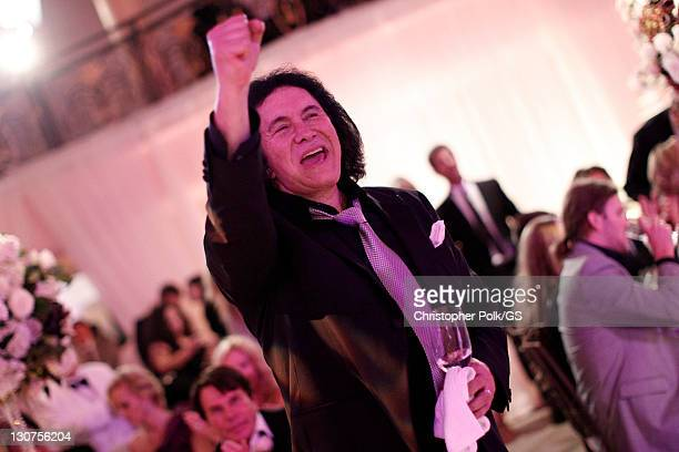 Groom Gene Simmons attends the wedding of Gene Simmons and Shannon Tweed held at the Beverly Hills Hotel on October 1 2011 in Los Angeles California