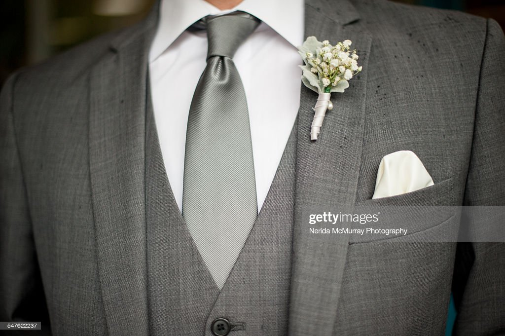 Groom In Grey Suit Stock Photo | Getty Images