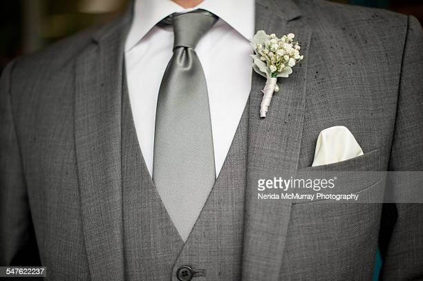 groom in grey suit - dinner jacket stock pictures, royalty-free photos & images