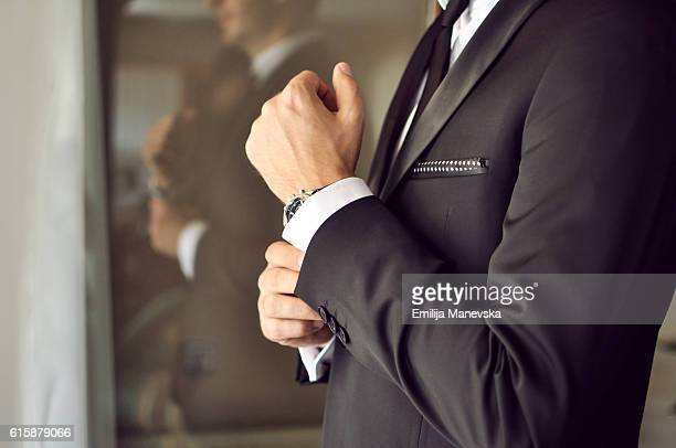 groom preparing for the wedding day - groom stock pictures, royalty-free photos & images