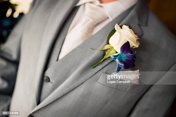 Groom Suit With Boutonnière