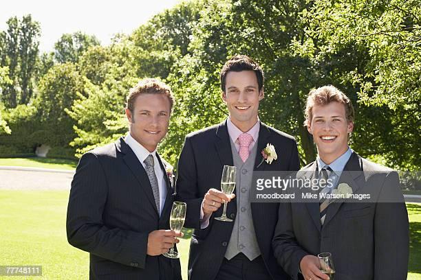 groom with groomsmen - cerimonia foto e immagini stock