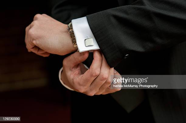 grooms cufflinks - dinner jacket stock pictures, royalty-free photos & images