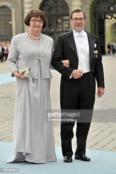 Grooms parents Olle and Ewa Westling attend the wedding of Crown Princess Victoria of Sweden and Daniel Westling on June 19 2010 in Stockholm Sweden