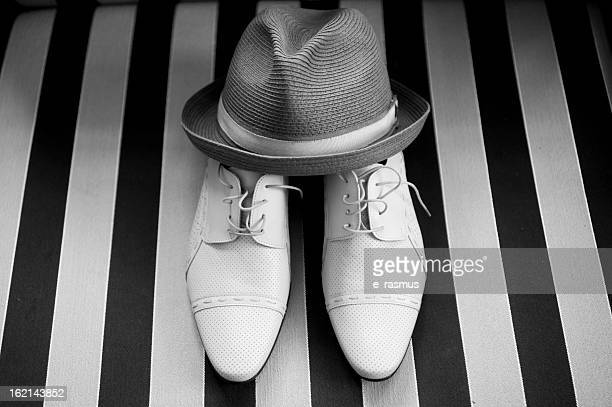 Grooms Shoes and Hat