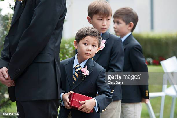 groomsboys - ring bearer stock pictures, royalty-free photos & images