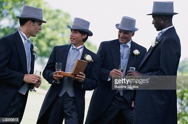 Groomsmen in Top Hats