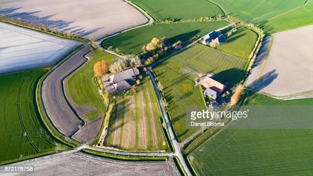 groot maarslag seen from above - noord holland stockfoto's en -beelden