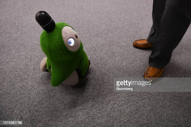 A Groove X Inc Lovot Edamame home robot stands at the company's office in Tokyo Japan on Tuesday Dec 11 2018 The Lovot is meant to live at home where...
