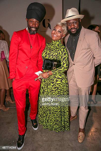 Groovey Lew Misa Hylton and Mike B attend Harlem's Fashion Row Spring 2016 presentation during New York Fashion Week on September 10 in New York City