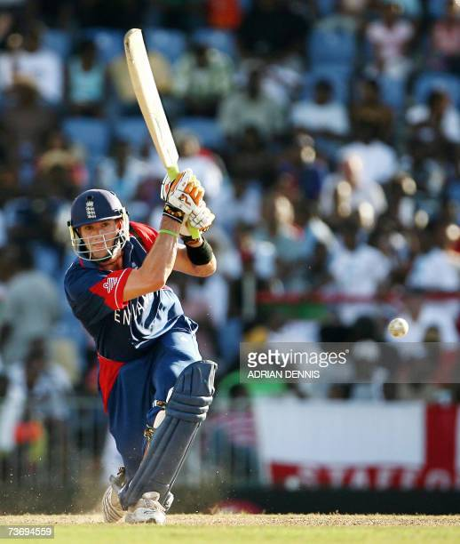 England's Kevin Pietersen plays a shot against Kenya during their Group C Cricket World Cup match at Beausejour Cricket Ground in Gros Islet 24 March...