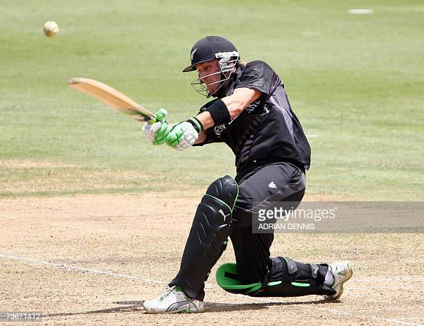 New Zealand's Brendon McCullum plays a shot against Canada during their Group C Cricket World Cup Match at Beausejour Cricket Ground in Gros Islet St...