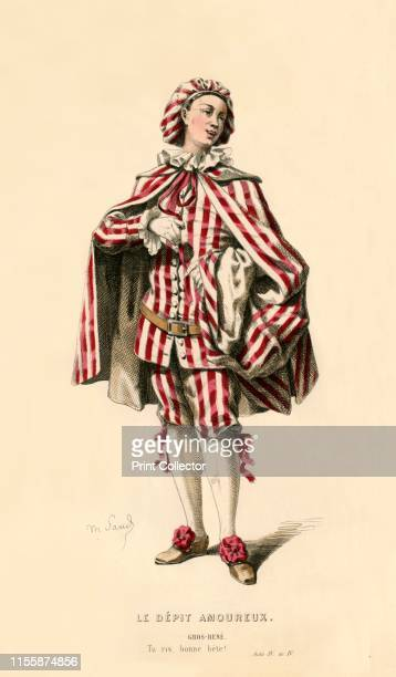 GrosRené 1868 The character of GrosRené a valet in the theatrical comedy Le Dépit Amoureux by Jean Baptiste de Molière first staged in 1659 From...