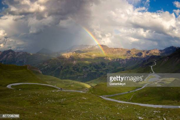 Grossglockner Alpine road in the Alps. Hohe Tauern National park