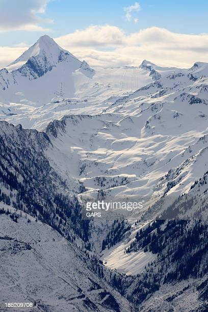 Grossglockner mountain range in the Austrian Alps