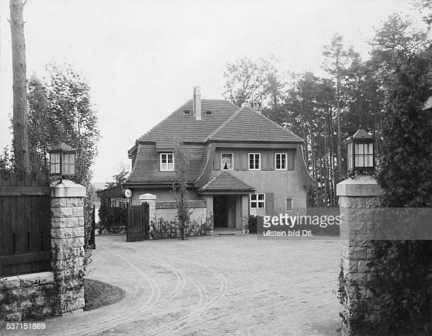 1872 1941 Grossindustrieller Heinenhof Potsdam Landsitz Carl Friedrich v Siemens die Einfahrt 1912 Foto R Siegert