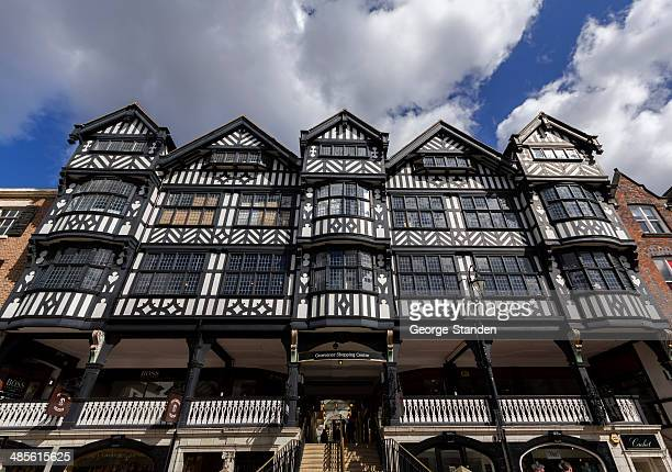 grosvenor shopping centre, chester - chester england stock pictures, royalty-free photos & images