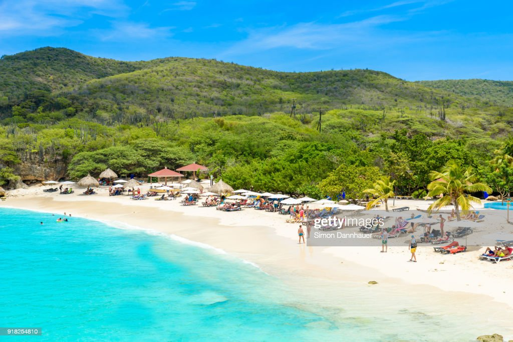 Grote Knip beach, Curacao, Netherlands Antilles - paradise beach on tropical caribbean island : Stock Photo