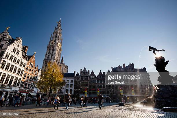Grote Markt and Cathedral of Our Lady