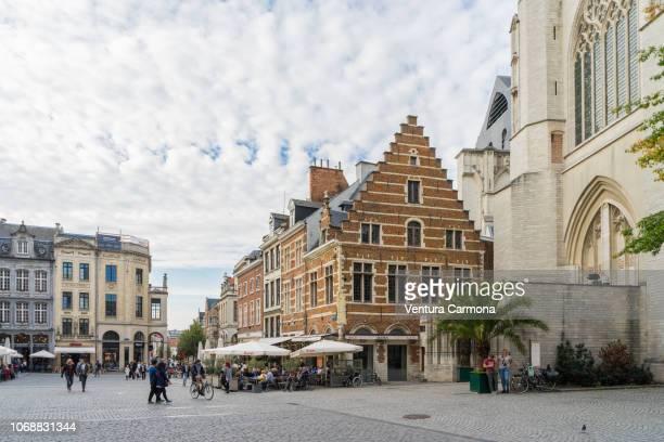 Grote Markt (Market Square) of Leuven, Belgium