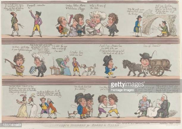 Grotesque Borders for Rooms Halls [October 20 1800] reprint Artist Thomas Rowlandson