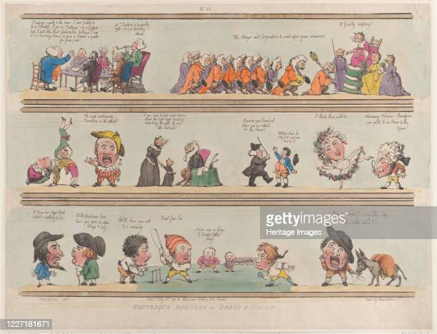 Grotesque Borders for Rooms Halls Plate 13 1799 Artist Thomas Rowlandson