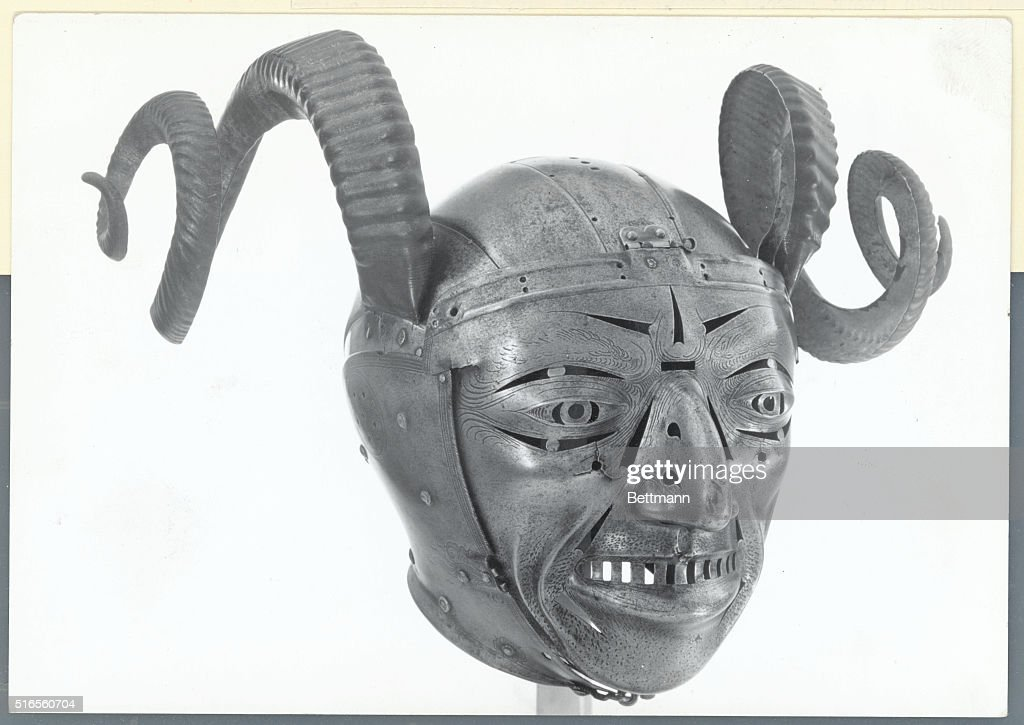 Grotesque Helmet from the Armouries in the Tower of London : News Photo