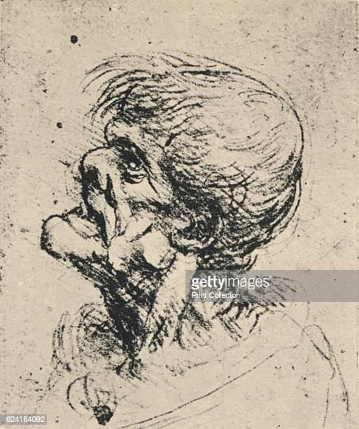 Grotesque Profile to the Left', c1480 . From The Drawings of Leonardo da Vinci. [Reynal & Hitchcock, New York, 1945]. Artist Leonardo da Vinci.