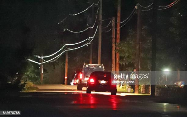 Groton and State Police investigate on the scene of a quadruple homicide on Common Street in Groton MA on Sep 8 2017