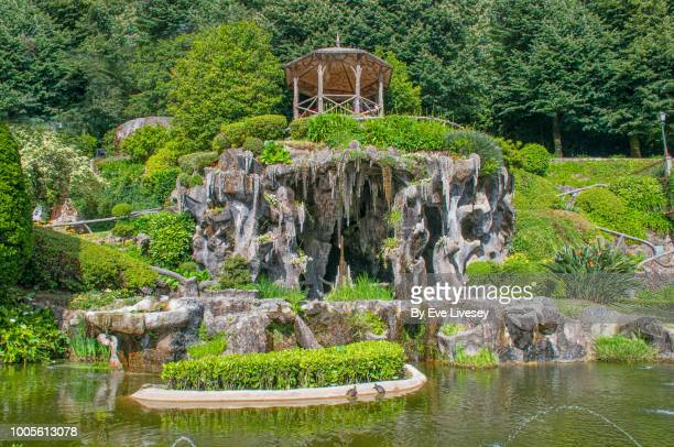 grotto, bom jesus do monte sanctuary grounds - grotto stock pictures, royalty-free photos & images
