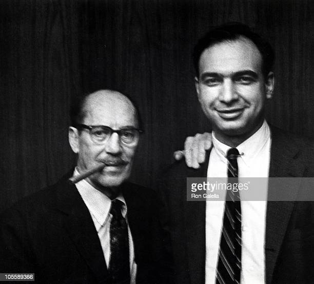 Groucho Marx and Guest during A Tribute to the Marx Brothers April 17 1967 at The Gallery of Modern Art in New York City New York United States