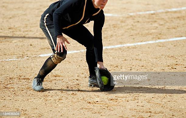 ground ball - softball stock pictures, royalty-free photos & images